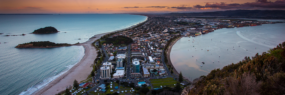 A picture of Tauranga town