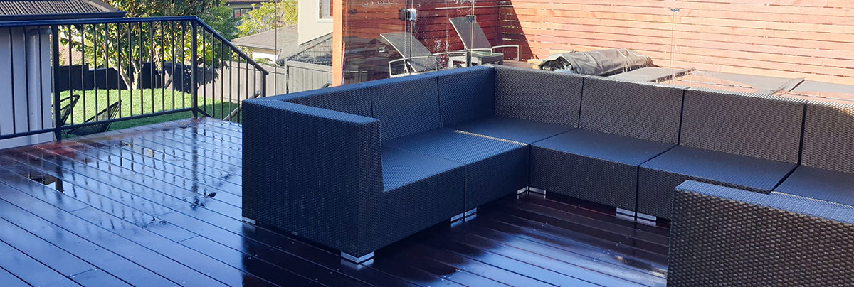 An updated outdoor area with pergola in Auckland, New Zealand