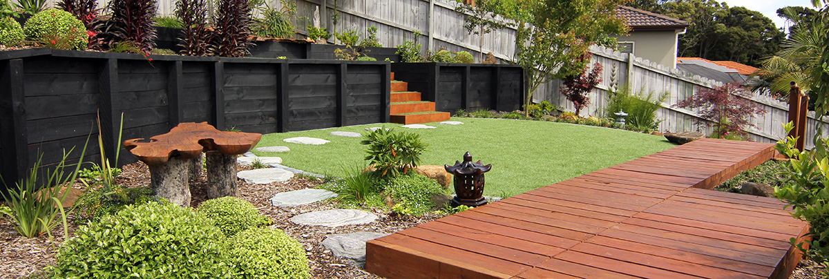 Landscaped Platform Introducing Modern And Traditional Japanese Garden  Elements.
