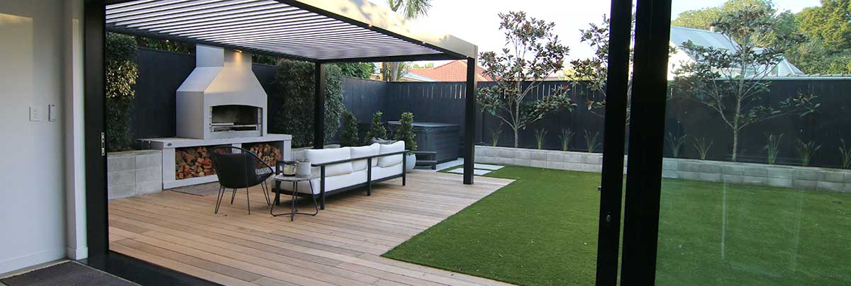 Outdoor renovation in Westmere