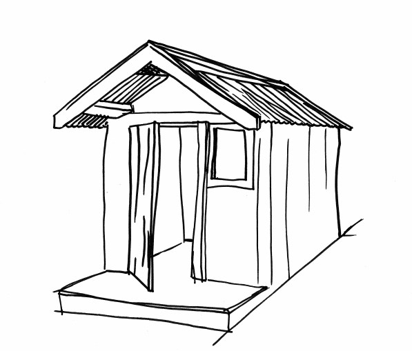 DIY child's playhouse drawing